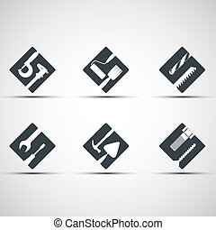 Set of icons tool. Vector image. On a white background