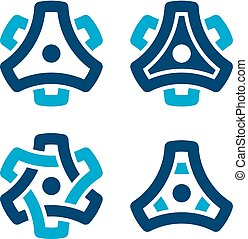 sprocket cogwheel gear symbol - illustration for the web