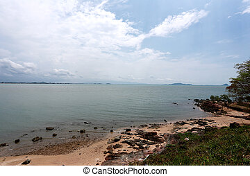 Coast in Thailand tourist attraction of Laem Sing Landmark....