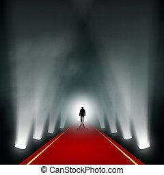 Man comes to the light.