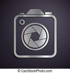 Logo of metal camera.