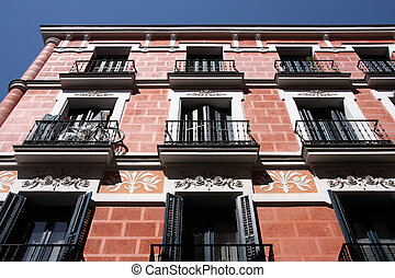 Mediterranean architecture in Spain. Lavapies district of...