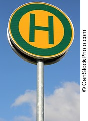 bus stop - German road sign: bus stop