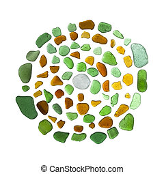 labirinto, vidro,  -, mar, mosaico