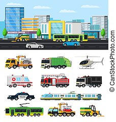 Colorful City Transport Collection