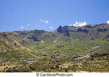 Inland Gran Canaria, April, Valsequillo municipality, view...