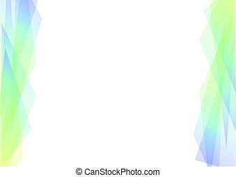 blue and green geometric spectrum abstract background