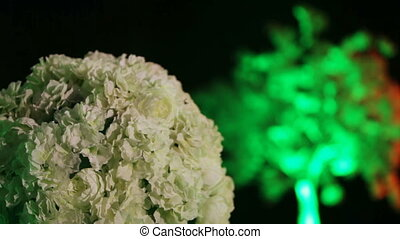Flower decoration in the light of lanterns