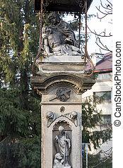 Old Wayside shrine by an unknown artist in Swoszowice near...