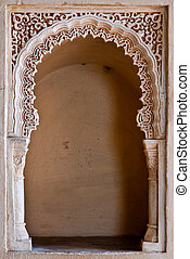 Alcazaba - Decorated gateway detail