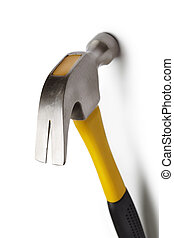 hammer - construction tool isolated on white background with...