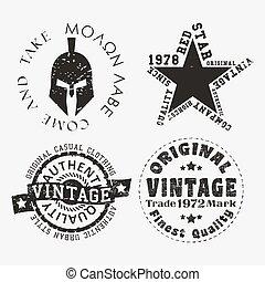 Vntage stamp set
