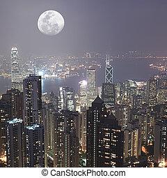 Hongkong - Skyline of Hong Kong City from Victoria Peak