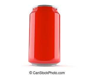 Soda can isolated on white background