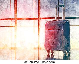 Viagem, conceito, feriado, Ilustração