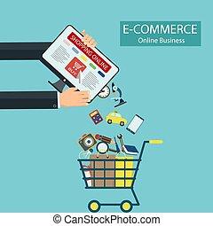 E-commerce. Shopping online.