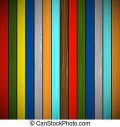 Wooden background of multicolored boards