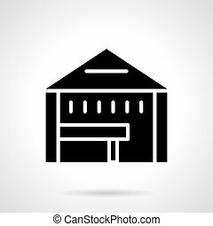 Tent shop glyph style vector icon - Abstract monochrome...