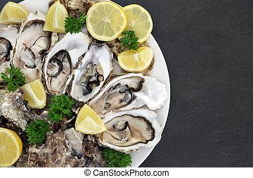 Oyster Aphrodisiac Food - Oyster aphrodisiac food on a...