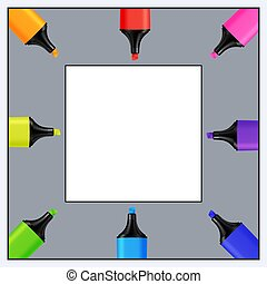 Quadratic Template for Text of Realistic Colorful Markers....