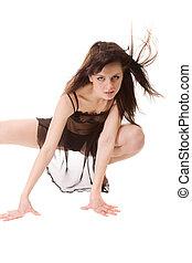 go-go dancer - young beauty girl dancing go-go