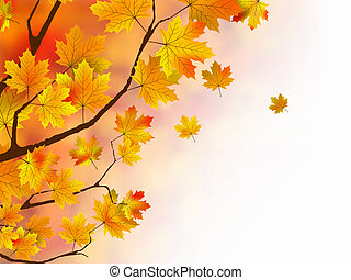 Warm colors of Autumn. EPS 8 vector file included