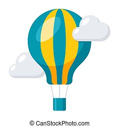 Aeronautics Balloon Icon - Aeronautics concept with balloon...