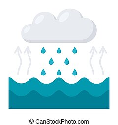 Water Cycle Diagram - Hydrology concept with water cycle...