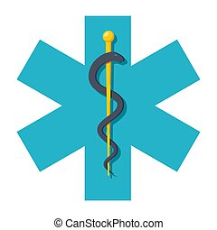 Star of Life - Medicine concept with Life of Star, vector...