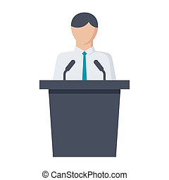 Politician Vector Icon - Political science concept with...