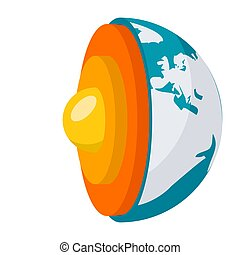 Geophysics Science Concept - Geophysics concept with earth...