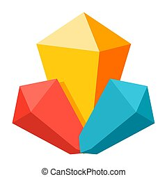 Mineral Vector Icon - Mineral icon, vector illustration in...