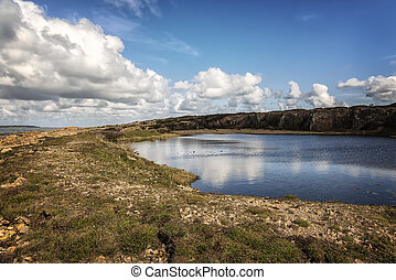 Dagshog quarry lagoon - Image of a lagoon by the old quarry...