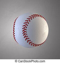 Baseball ball 3d rendering illustration
