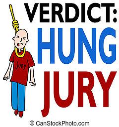 Hung Jury - An image representing a hung jury
