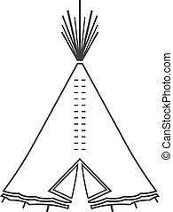 Icon or emblem of indian or tipi tent for outdoor...