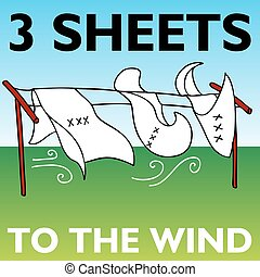 Three Sheets to the Wind - An image representing three...