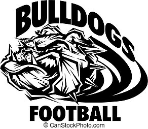bulldogs football - stylized bulldogs football mascot team...