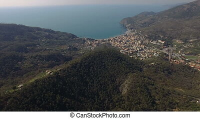 Aerial shot of a beautiful Italy view