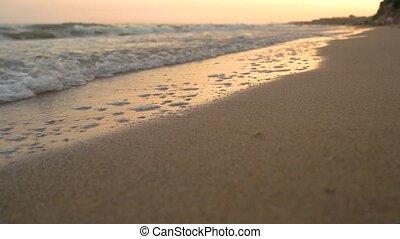 Close up of seashore.