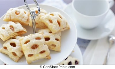 Apple Strudels and Coffee - Mini apple strudels with coffee...