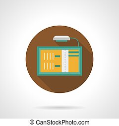 Advertising board flat round vector icon