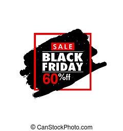 black friday in frame color illustration