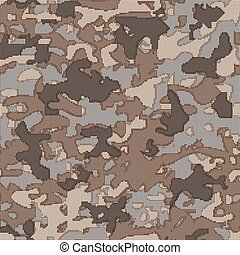 Military camouflage. Pattern on the fabric. Stock vector illustr