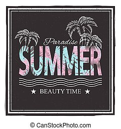 Summer paradice. Beauty time. Vector illustration for...