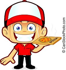 Pizza delivery man courier