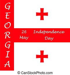 Independence Day of Georgia. Template for advertising,...