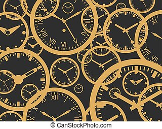 Clock Background - Isolated Vector Illustration - Clock...