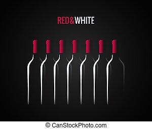 wine bottle concept design background