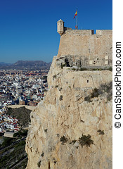 Santa Barbara Castle in Alicante, Spain - Santa Barbara...